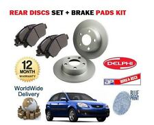 FOR KIA RIO 1.4 1.5TD 1.6  2005-> NEW REAR BRAKE DISCS SET + DISC PADS KIT