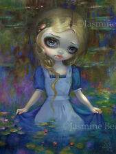 Jasmine Becket-Griffith art print lily SIGNED Alice in Monet's Water Lilies