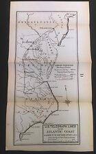 Early 1900's U.S. Telgraph Lines on Atlantic Coast Chief Signal Officer Map