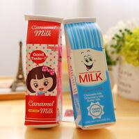 Korean Cute Cartoon Pencil Pen Case Bag Makeup Bag Zipper Stationery Blue Red