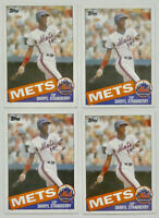 1985 TOPPS BASEBALL Darryl Strawberry (4x) Card Lot #570 EX-NM New York Mets