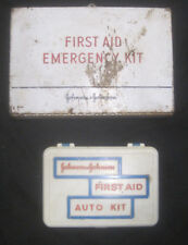 Lot 2 Vintage Johnson & Johnson Travel Auto Medical Emergency First Aid Kits