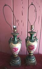 """VTG. DECORATIVE TABLE LAMPS: SET OF 2 FOR REPAIR/ PARTS """"AS IS"""""""