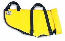 Water Life Jacket For Dogs Medium Size w/ Handle Yellow Fido Float New