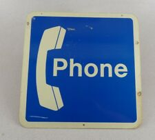 """Vintage 2 Sided Phone Telephone Wall Sign 18"""" by 18"""" Free Shipping #B"""