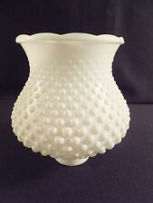 "Vintage White Hobnail Glass Lamp Light Shade Replacement 1.75"" Fitter"