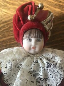 Vintage Porcelain Certificato Di Garanzia Baby Collection Articulated Doll Italy