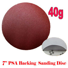 "10x 7"" PSA Self Adhesive 40 Grit Sand Disc #40 Stick On Sandpaper Sheet Peel"
