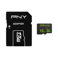 Genuine PNY Performance 16GB Micro SD SDHC card 50MB/s with SD adapter UK Seller