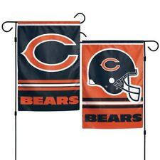 "Chicago Bears Polyester 12""X18"" 2 SIDED Garden Yard Wall Flag NFL Hologram"