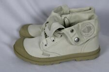 Palladium Womens Fold Down Canvas Ivory Putty Baggy Low Boots Womens Sz 7 NWOB