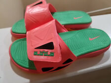 NIKE AIR LEBRON 2 SLIDE ELITE Bright Mango Green Pink # 578251 838 Men's SZ 10
