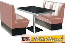 HW-120DR Set American Dinerbank Sitzbank Diner Bänke Möbel 50´s Retro USA Style