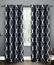 p5 Exclusive Home Ironwork Blackout Thermal Grommet Top Curtain Panels Pair