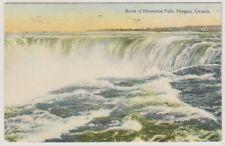 Canada postcard - Brink of Horseshoe Falls, Niagara - P/U 1937