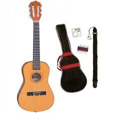 PALMA 1/2 SIZE NATURAL CLASSICAL GUITAR KIT Inc BAG, STRAP, STRINGS & PITCH PIPE