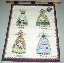 Jim Shore Four Seasons Angels Spring/Summer/Fall/Winter Tapestry Wall Hanging