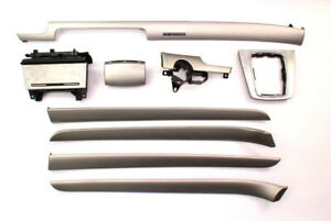 Interior Trim Set 02-08 Audi A4 S4 B6 B7 Door Panel & Dash Aluminum Silver