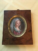 Antique Miniature Portrait  Continental Europe, perhaps German  19th century