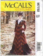 Vtg 1800s 19th Century Victorian Top Skirt Jacket Sewing Pattern 12 14 16 18