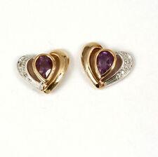 Echter Ohrschmuck mit Diamanten und Herz-Schliffform