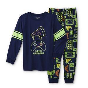 Video Game Pajamas Boys Size 6-7,8,10-12 Gamer/Gaming Shirt/Pant Pizza S,M,L NEW