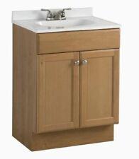 """Project Source 24.5"""" Golden Oak Single Sink Bathroom Vanity Cabinet Babvbcu2418"""