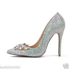 Diamond Bling Shinning Crystal High Heel Wedding Shoes Stiletto Handmade
