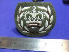 vtg badge patch quartermaster sergeant regimental padded embroidered cloth