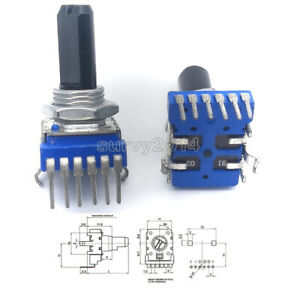 6 - Pin Dual Channel Audio Mixer Potentiometer 103 B10K B50K RK1114GH 10K 50K