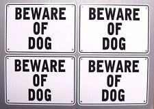 """BEWARE OF DOG"" 10"" x 7"" WARNING SIGN, 4 SIGN SET, METAL"