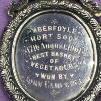 Silver Agricultural medal Aberfoyle Best Basket Vegetables Bird 1898