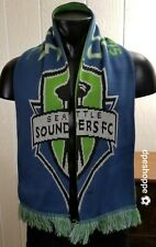 MLS Seattle Sounders FC Football Soccer Adidas Reversible Knit Scarf OSFA 59 x 8