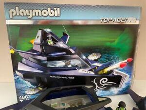 Playmobil 4882 Top Agents Agentenboot mit OVP .