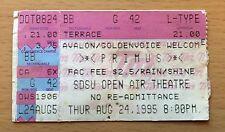 1995 Primus Mike Watt San Diego Concert Ticket Stub Minuteman Feuerwehrschlauch d. Boon