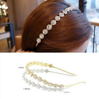 Bohemia Crystal Rhinestone Sunflower Headband Wedding Bridal Hair Band Headpiece