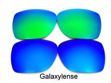 Galaxy Lentes De Repuesto Para Oakley PLATA Gafas sol azul / VERDE POLARIZADOS