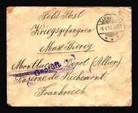 Germany 1916 POW Cover / Censor / SARGSTEDT CDS - Z14460
