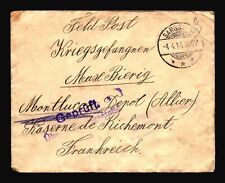 Germany 1916 POW Cover / Censor / SARGSTEDT CDS - Z14460
