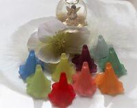 Acryl Perlen Blüten Kelche gefrostet Blume 35x41mm Calla Lilie DIY Basteln