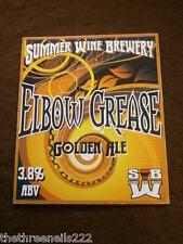 BEER PUMP CLIP - SUMMER WINE ELBOW GREASE GOLDEN ALE