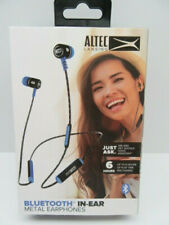 Altec Lansing Wireless Bluetooth In-Ear Metal Earbuds Voice Assistant - Blue