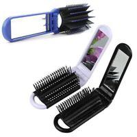 de poche le scalp de massage cosmetic miroir inclus pliage brosse à cheveux