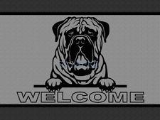 Bullmastiff Mastiff Dog Peeking Over Welcome Home Doormat Door Mat Floor Rug