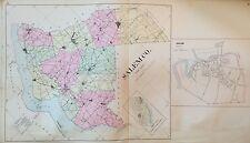 ORIGINAL 1905 SALEM COUNTY & TOWNSHIP NEW JERSEY ATLAS MAP