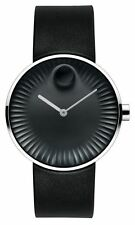 New Movado Edge Black Rubber Strap Men's Watch 3680002