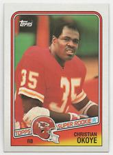 (2)1988 Topps 'Super Rookie' #363 - CHRISTIAN OKOYE - Lot of 2 cards
