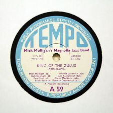 """MICK MULLIGAN'S MAGNOLIA JAZZ BAND """"King Of The Zulus"""" (EE+) TEMPO A-59 [78 RPM]"""