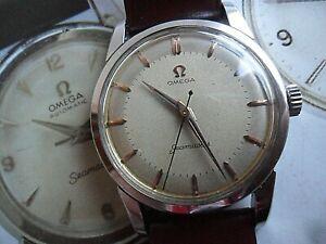 Clean S/S Vintage 1957 Men's Omega Seamaster 17 Jewel Cal 420 Swiss Watch 2759-9