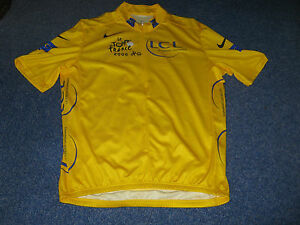 TOUR DE FRANCE 2006 NIKE YELLOW LEADERS CYCLING JERSEY [Small adult]